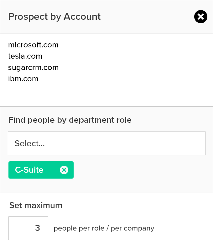 company insights and direct email addresses for key contacts  at target accounts